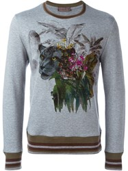 Etro Printed Sweatshirt Grey