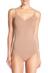 Yummie Tummie Women's Yummie By Heather Thomson 'Conner' Convertible Bodysuit Almond