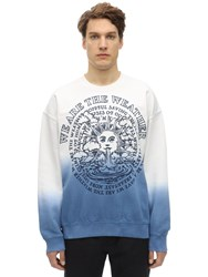 Stella Mccartney Print Degrade Cotton Sweatshirt White