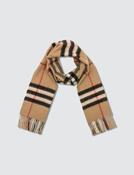 Burberry Giant Cashmere Check Scarf Beige