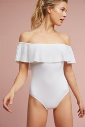 Anthropologie Karla Colletto Amalfi One Piece White