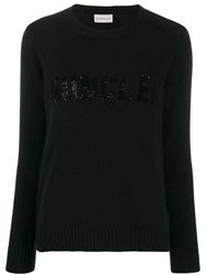 Moncler Sequin Embellished Jumper Black