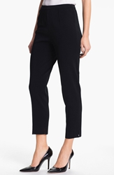 Ming Wang Pull On Ankle Pants Black