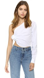 Jacquemus Knotted Shirt White