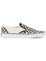 Vans Checkerboard Slip On Sneakers Men Cotton Rubber 5.5 White