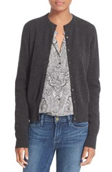 Equipment Women's 'Albie' Cashmere Cardigan Charcoal Heather Grey