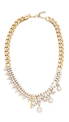 Iosselliani Lynn Embellished Necklace Gold Clear