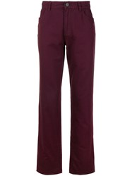 Kent And Curwen Straight Leg Mid Rise Trousers 60