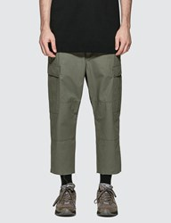 Uniform Experiment Hem Cut Off Cropped Cargo Pants Brown