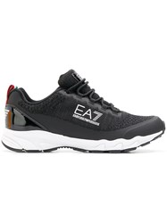 Emporio Armani Ea7 Lace Up Sneakers Black
