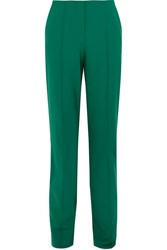 Diane Von Furstenberg Wool Blend Straight Leg Pants Green
