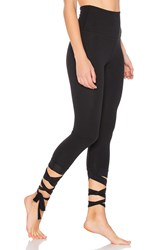Beyond Yoga Just Your Stripe Capri Legging Black