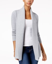 Charter Club Stitched Open Front Completer Cardigan Created For Macy's Casual Grey Heather