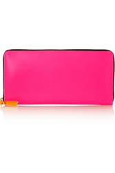 Comme Des Gar Ons Neon Leather Continental Wallet