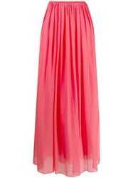Forte Forte Pleated Chiffon Skirt Pink