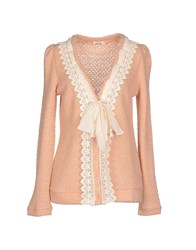 Molly Bracken Knitwear Cardigans Women Skin Color