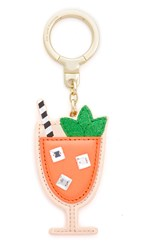Kate Spade Leather Passion Fruit Drink Key Chain Multi
