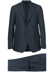 Doppiaa Two Piece Formal Suit Blue