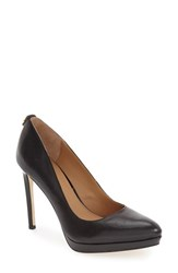 Calvin Klein Women's 'Suzanne' Platform Pump Black Leather