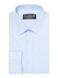 New And Lingwood Fine Twill Formal Shirt Light Blue