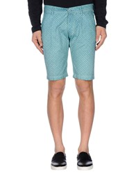Individual Trousers Bermuda Shorts Men Turquoise