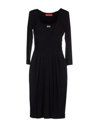 Angelo Marani Knee Length Dresses Black