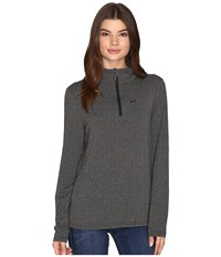 Cinch Long Sleeve 1 4 Zip Pullover Grey Women's Clothing Gray