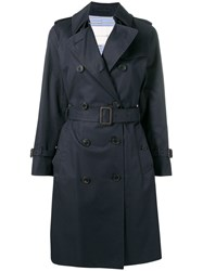 Mackintosh Ink Cotton Trench Coat Lm 040F Blue