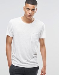 Selected Homme Melange T Shirt With Raw Edge Off White