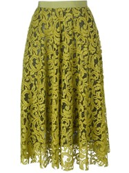 Roberto Collina Lace Midi Skirt Green