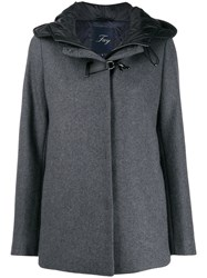 Fay Buckle Fastened Hooded Coat 60