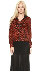 Jean Paul Gaultier Printed Jacket Red
