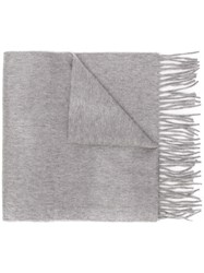 Begg And Co Fringed Edge Scarf Grey