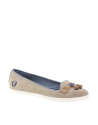 Fred Perry Evelyn Tassle Flat Shoes Taupe