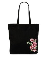 Collection 18 Floral Embroidered Tote Burgundy
