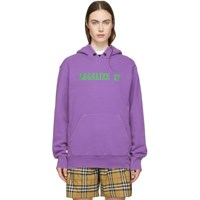 Palm Angels Purple 'Legalize It' Hoodie
