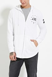Forever 21 High Hopes Graphic Hoodie White Black