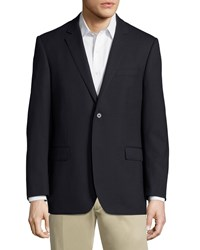 Neiman Marcus Modern Fit Two Button Sport Coat Navy