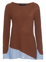 French Connection Rib Crew Jumper Terra Tan
