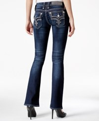 Rock Revival Tibbie Bootcut Dark Blue Wash Jeans Only At Macy's