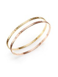 Chamak By Priya Kakkar Two Tone Bangle Bracelet Set Yellow Rose Gold