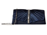 Jessica Mcclintock Andrea Satin With Stones Navy Handbags