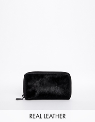 Maison Scotch Purse In Faux Pony Black