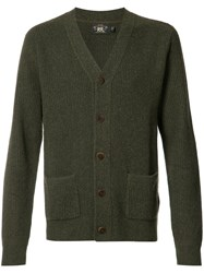 Rrl Patch Pockets Buttoned Cardigan Green
