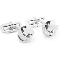 Hugo Boss Knotted Silver Tone Cufflinks