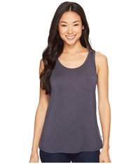 Prana Foundation Scoop Neck Tank Top Coal Women's Sleeveless Gray