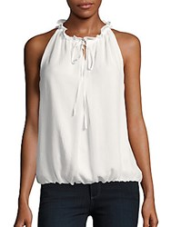 Max Studio Sleeveless Solid Top Off White