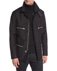 Tom Ford Satin Cotton Field Jacket Black