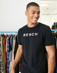 Bench Oversized T Shirt With Vintage Font In Black