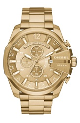 Diesel 'Mega Chief' Chronograph Watch 51Mm Gold